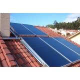 instalação do sistema de aquecimento solar